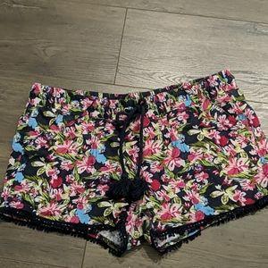 3/$20 Rewind Navy Floral Pompom Shorts